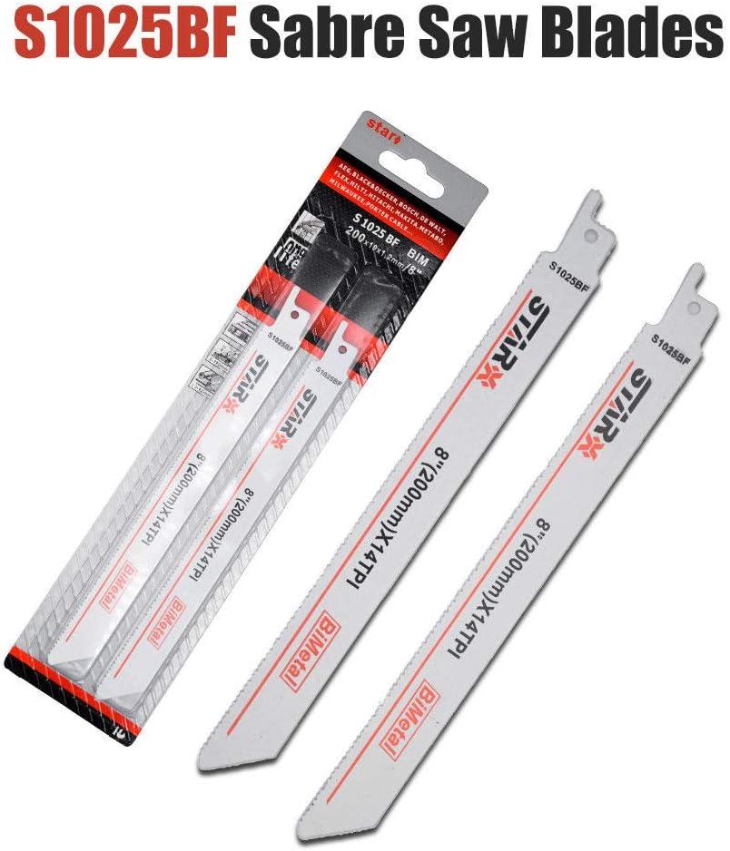 BE-TOOL Lot de 7 lames de scie /à m/étaux Bosch 56-300 mm HCS//BIM
