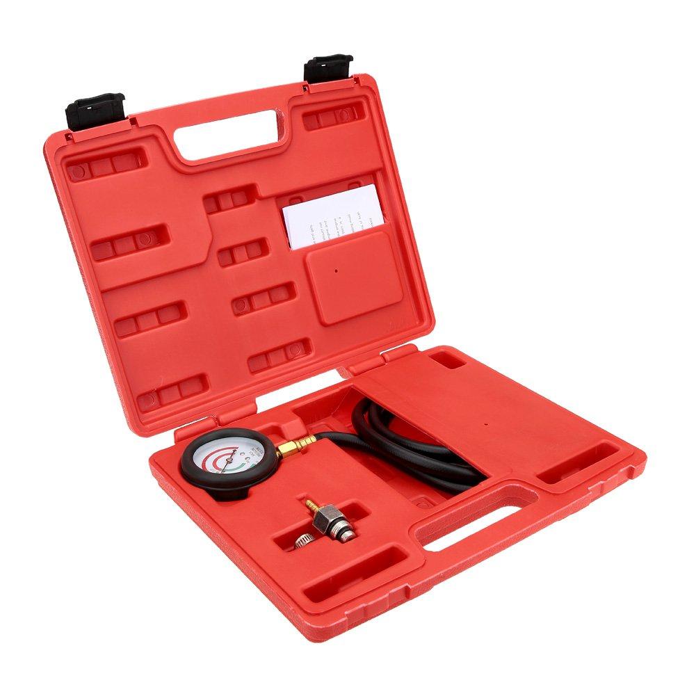 KKmoon Exhaust Back Pressure Tester Set Pressure Gauge Test Tool Kit Sensor