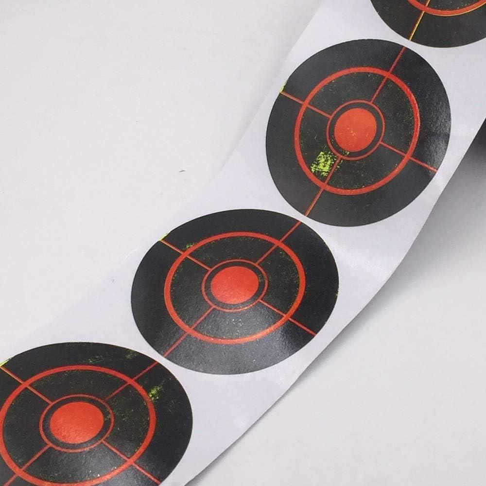 Diametro 7,5 cm Target Splatter 250 o 100 Pezzi//Rotolo Adesivo Autoadesivo