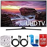Samsung UN40MU6290 6-Series 39.9 LED 4K UHD Smart TV w/ Warranty Bundle includes TV, 1 Year Extended Warranty, 6ft High Speed HDMI Cable x 2, Universal Screen Cleaner, and 6-Outlet Surge Adapter