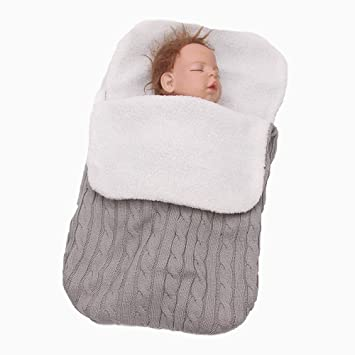 Amazon.com  Thicken Newborn Baby Swaddle Wrap Blanket 0ae3a8d40