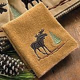 Black Forest Decor Moose & Pine Wash Cloth