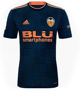 Adidas Valencia CF Segunda Equipación 2018-2019 Niño, Camiseta, Collegiate Navy-Semi Solar Orange: Amazon.es: Deportes y aire libre