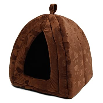 Xinanlongjb con Lovely Paw Prints Cama para Perros de Lujo Cama para Mascotas Cat Cave Bed Pet Tent Pet Igloo (Color : Brown): Amazon.es: Productos para ...