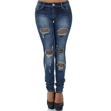 51c5672d4f66b6 Malucas Damen Jeans Hose Röhrenjeans Hüftjeans Röhrenhose Slim Fit Skinny  Stretch Hüfthose 00351: Amazon.de: Bekleidung