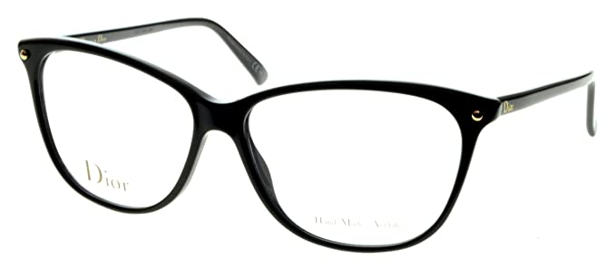 ae05d7070d2 Image Unavailable. Image not available for. Colour  Dior Women s Cd3270  Black Frame Plastic Eyeglasses ...