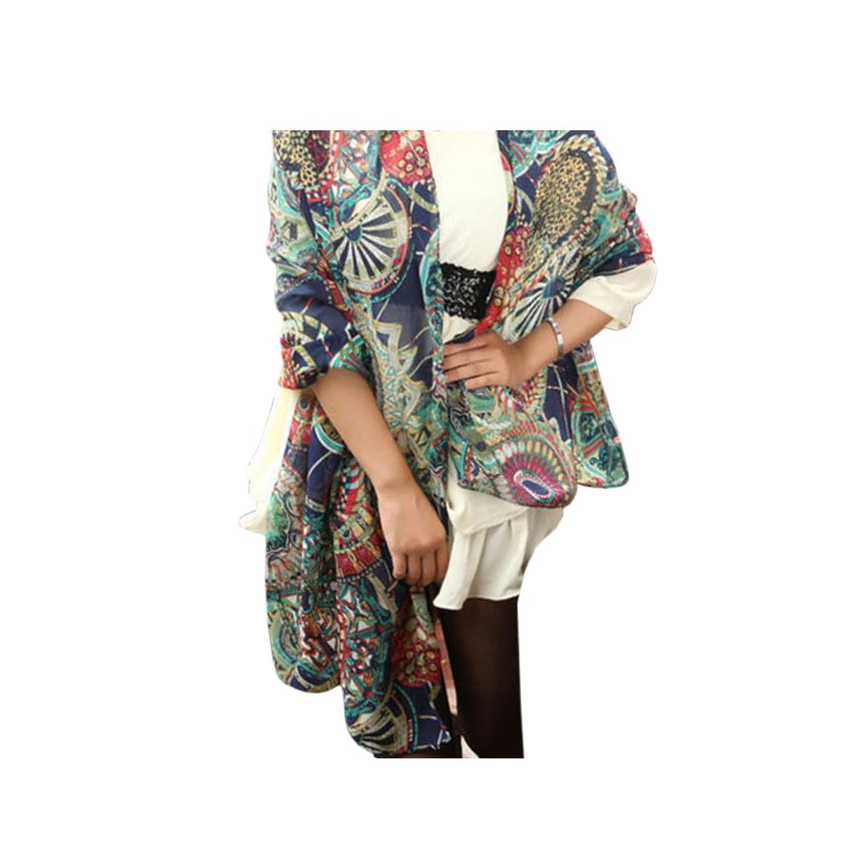 Fashion Women's Girl Chiffon Print Silk Long Soft Neck Scarf Shawl Scarves Wrap