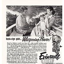 1954 EVINRUDE Outboard Motors vintage print ad