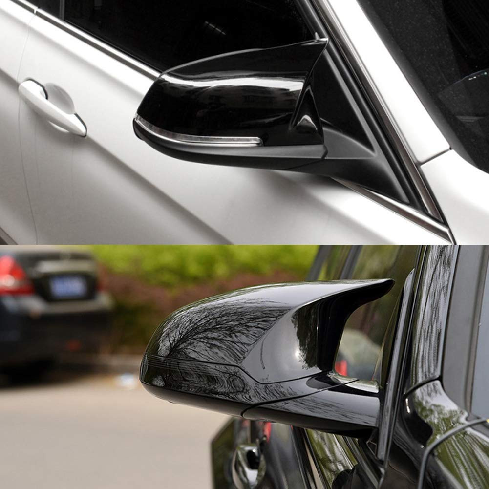 Car Rearview Mirror Covers Carbon Fiber Wing Mirror Cover Caps for F20 F21 F22 F30 F32 F33 F36 X1 E84