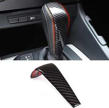 1 Piece Moonlinks for BMW E90 Carbon Fiber Gear Shift Knob Cover Trim Carbon Fiber Style Gear Shift Head Cover Fit BMW Z4 X1 E90 E91 BMW F30