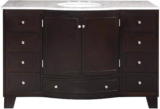 55 Single Sink Marble Top Bathroom Vanity Cabinet Lavatory Furniture 703w Hf Gallery Vanity Amazon Com