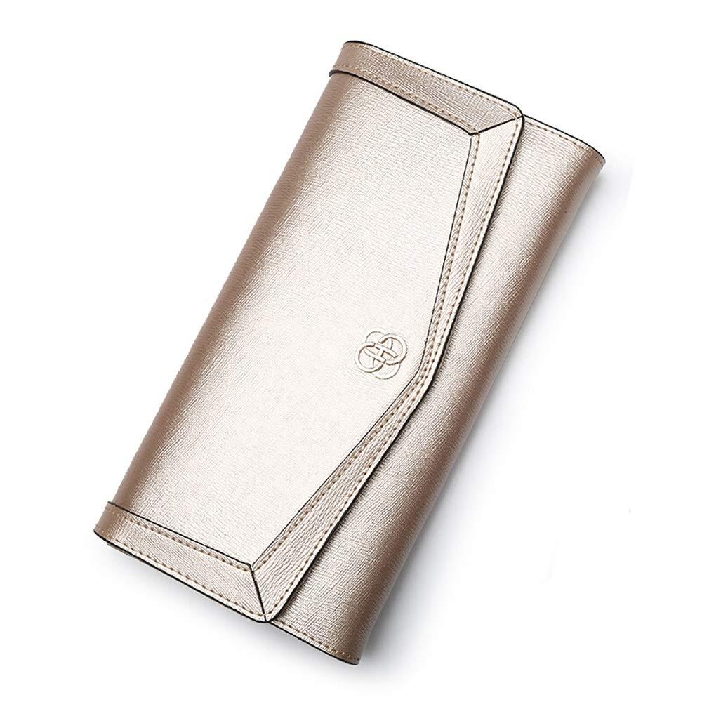 LONG ハンドバッグ - レディースウォレット、レザーウォレット、マルチカードウォレット (色 : ゴールド) B07KP13BRT ゴールド