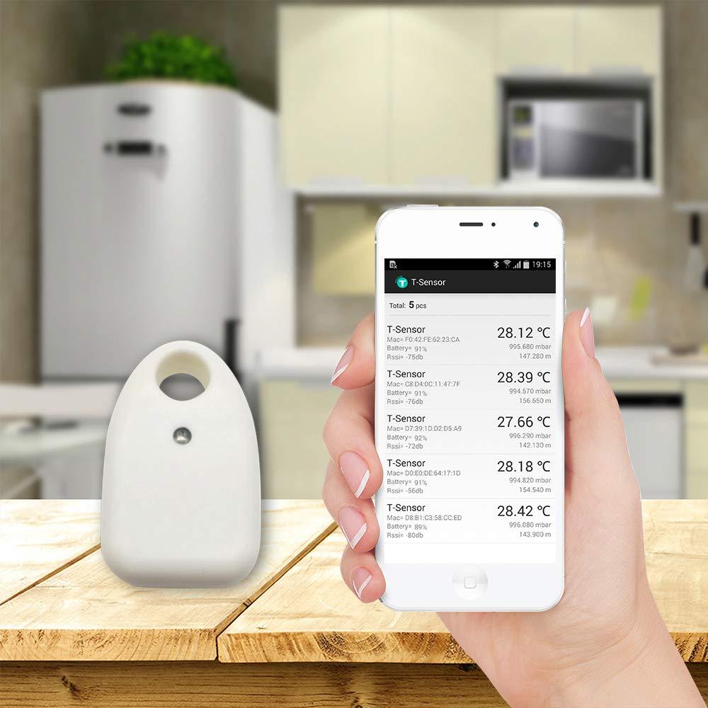 /Termometro interno con inserto per Android utilizzato per casa bianco /Sensore di temperatura kuehlraum Woonavir Bluetooth/ magazzino wayjoy Bluetooth/