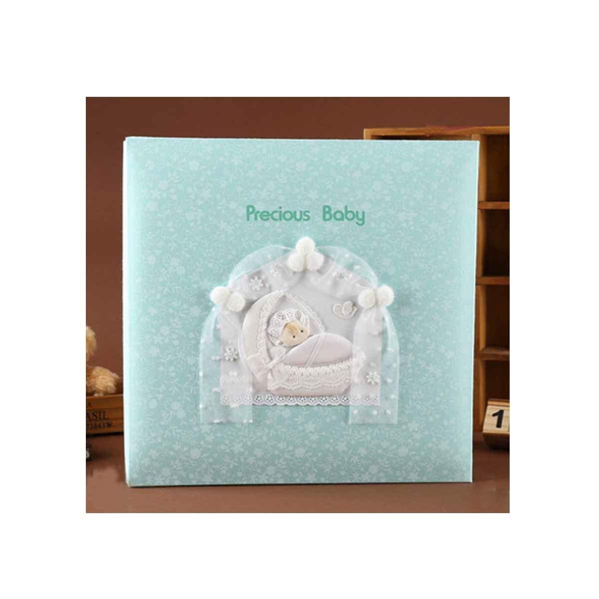 Hongyuantongxun Photo Album, Creative Handmade Traditional Photo Album, Baby Growth Custom Record Book,Blue, Baby Elephant Practical (Color : 8) by Hongyuantongxun
