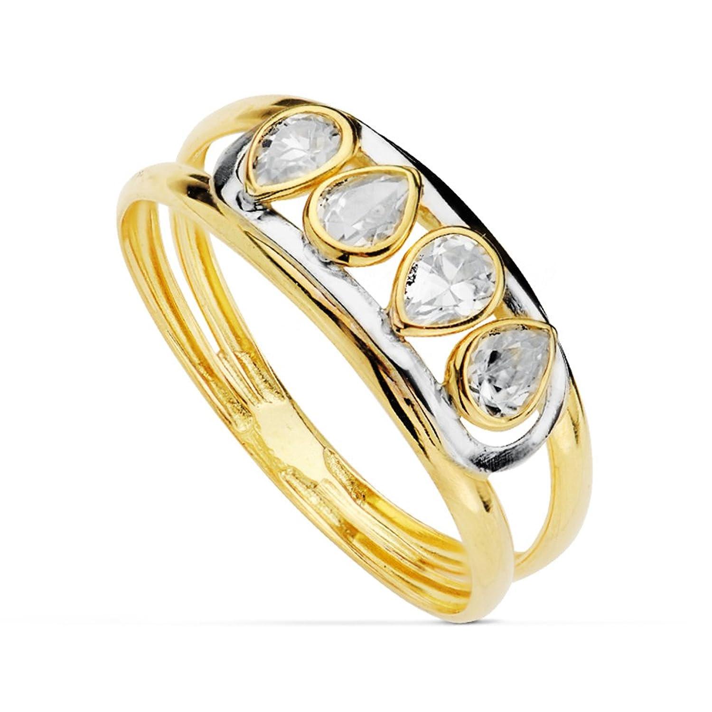 Sortija oro bicolor Francisca 18 Ktes - 1ª Comunión niña