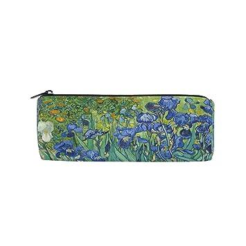 Ahomy Estuches de Lona Estuches Van Gogh Irises Flor con Cremallera ...