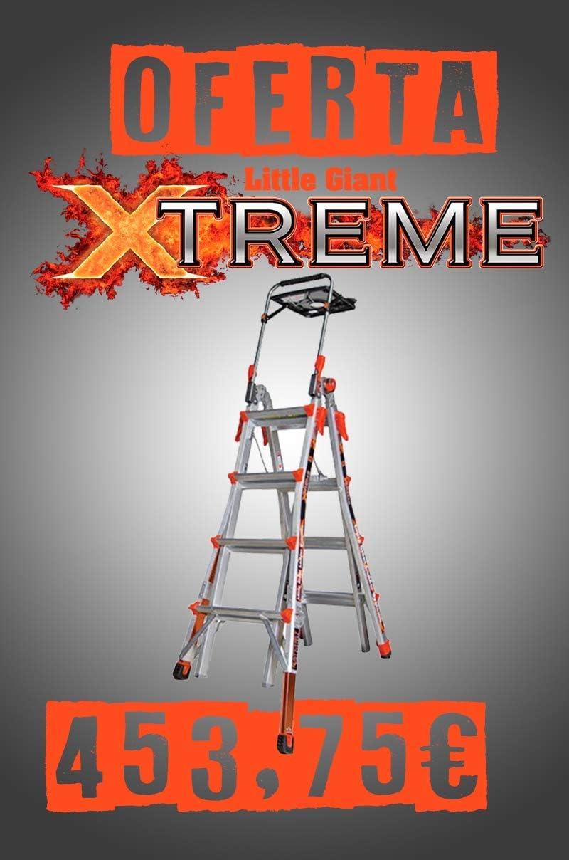 Xtreme - Escalera telescópica transformable con plataforma y nivelador extraíble: Amazon.es: Bricolaje y herramientas