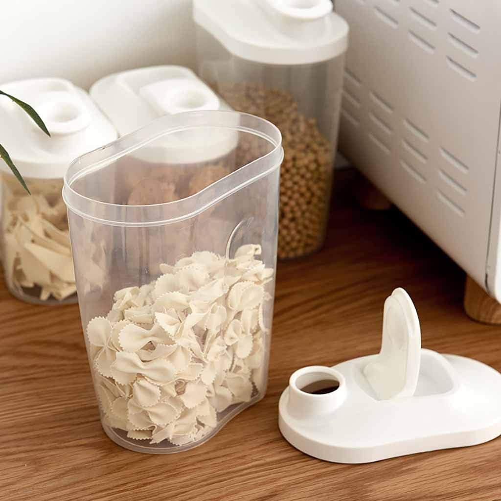 STRIR Pl/ástico de Alimentos Secos Caja de Almacenamiento de La Cocina Dispensador de Contenedores con Tapa Herm/ética 1000ML