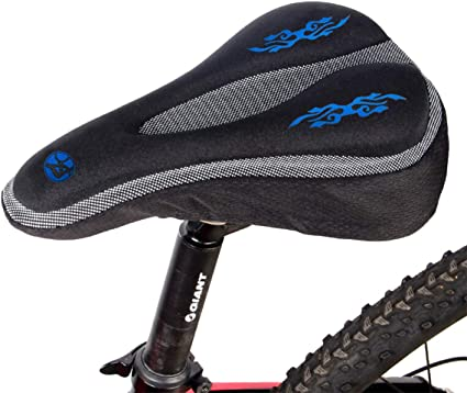 Bike Bicycle Carbon Fiber Saddle Seat Pad Padded Cushion Universal Accessories