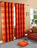 Homescapes Rideaux à œillets Rayures Orange 170 x 230 cm Collection Stripes Morocco