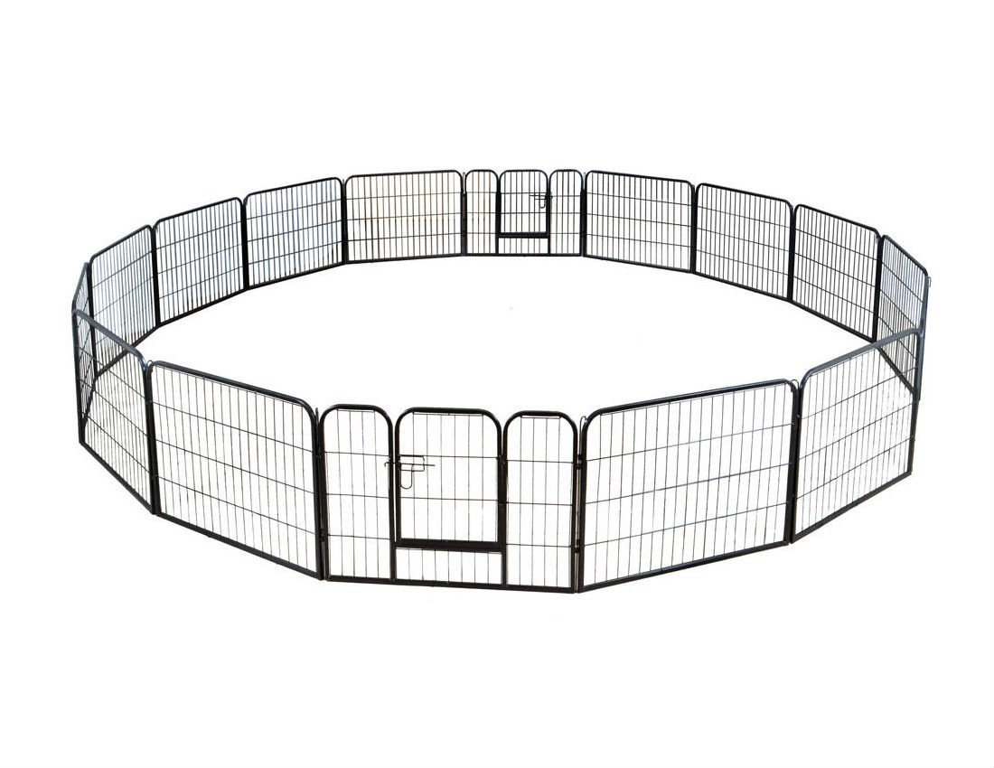 Large 16 Panels Pet Dog Cat Metal Exercise Barrier Fence Playpen Kennel Yard New Top Selling Item by Unbranded* (Image #3)