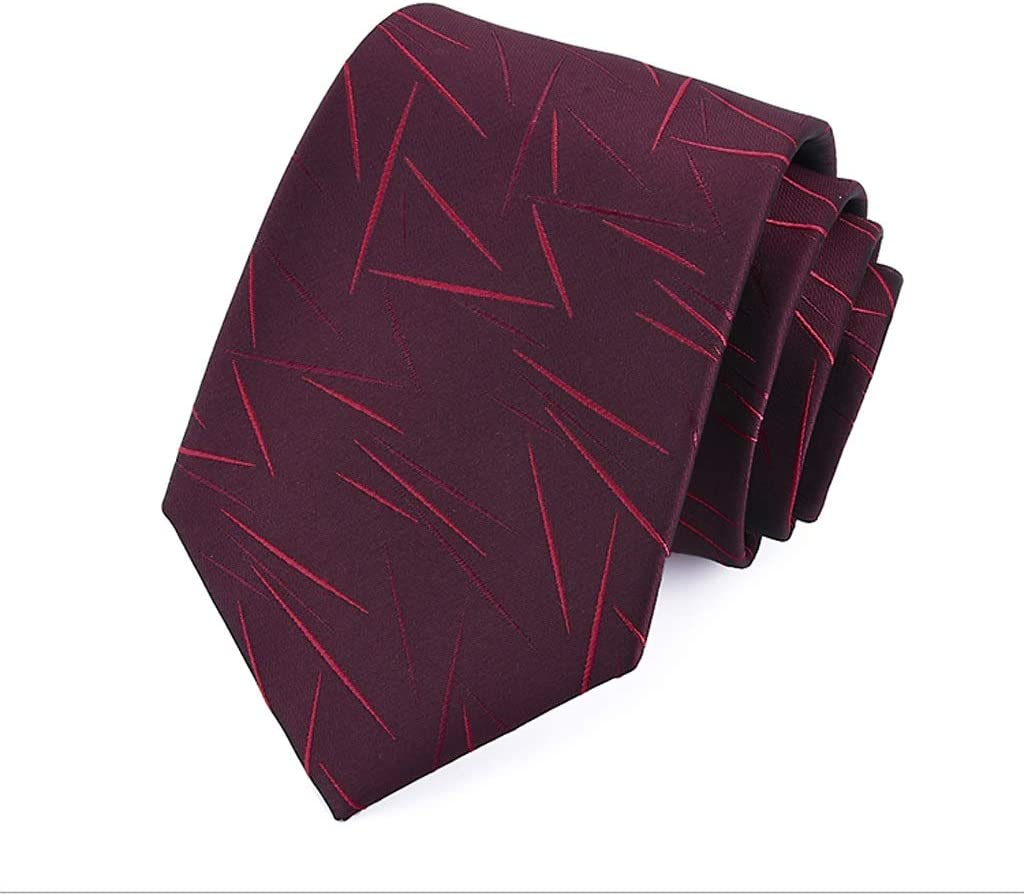 NLXTXQC Mens Fashion Tie Color : Red Irregular Pattern Delicate Handwork Gift Box Necktie Polyester Neckwear Pre Tied Business Dress