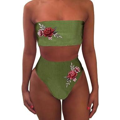 97c303ed70 ❤ Familizo 2018 HOT Women Fashion Sexy Swimwear Embroidered Rose High Waist  Bikini Set Bathing Suit Fashion Floral Playsuits Top Underwear Pants  Lingerie ...