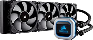 Corsair Hydro Series H150i PRO RGB AIO Liquid CPU Cooler, 360mm Radiator, Triple 120mm ML Series PWM Fans, Advanced RGB Lighting and Fan Software Control, Intel 115x/2066 and AMD AM4 com
