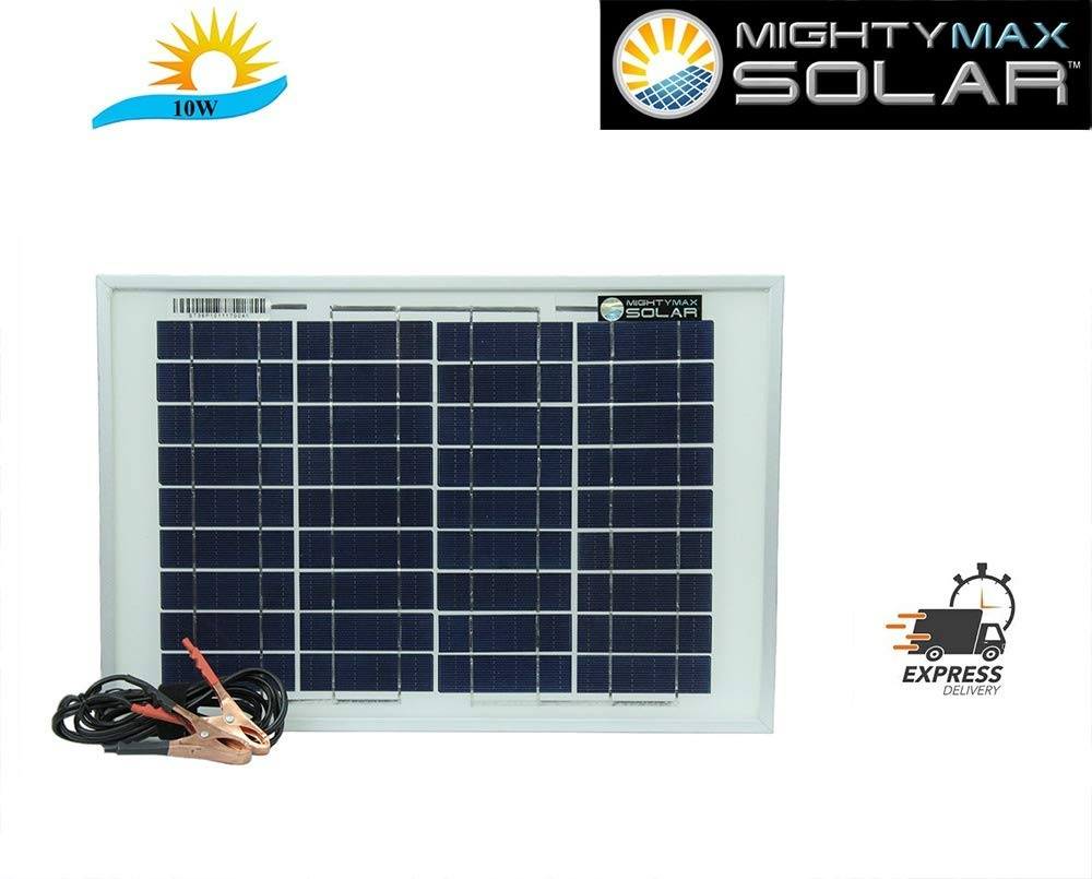 Mighty Max Battery 10 Watt Polycrystalline Solar Panel Charger Replacement for Mule FM123 Brand Product by Mighty Max Battery (Image #1)