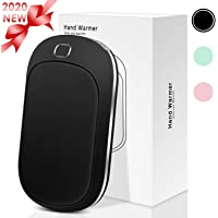 Portable Hand Warmer, 5200mAh Power Bank Rechargeable Type-C Hand Warmer Heater Pocket Electric Handwarmer,Double-Side Quick Heating&4 Levels Adjustable,Perfect for Skiing Climbing Hiking Winter