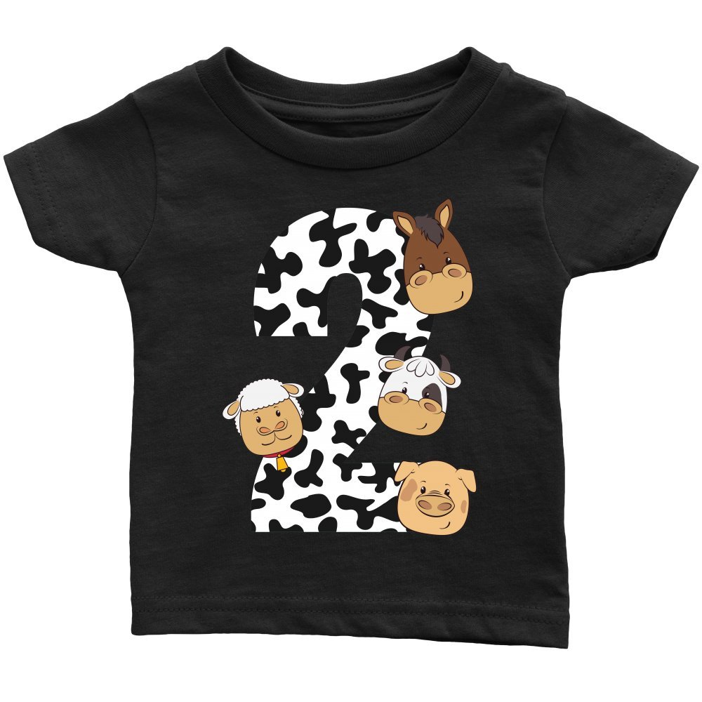 Infant Graphic tee The Party Project Barnyard Baby t-Shirt 2 Farm 2nd Birthday Shirt