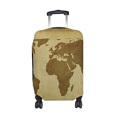 defa62dc1697 Amazon.com | DEYYA Vintage World Map Spandex Travel Luggage Cover ...