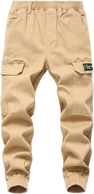 Lausons Pantalones Cargo Para Nino Pantalon De Jogging Ninos Amazon Es Ropa Y Accesorios