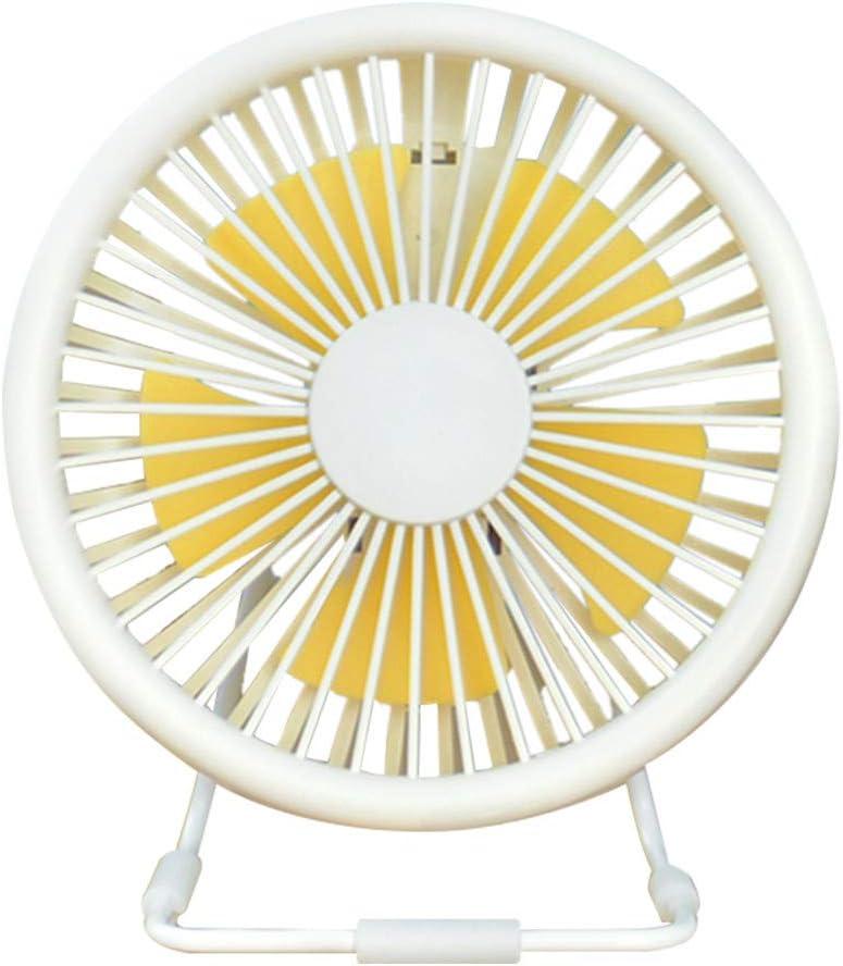 Lelili Small Desk USB Fan 5 Blades Cooler Cooling Fan USB Mini Fan Home Office Bedroom Fan