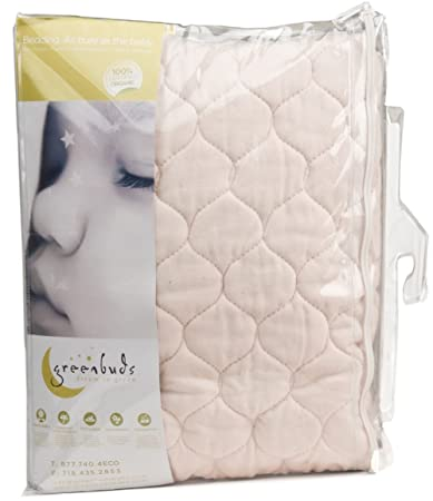 Amazon Com Greenbuds Organic Cotton Quilted Crib Mattress Pad 28