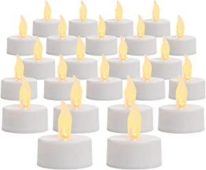 Inglow by Sterno Home Flameless Tea Light Candle, 100 Hours of Run Time, Battery Operated, 24-Pack, White