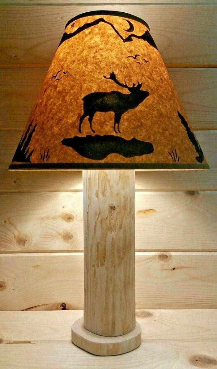 ELK Rustic Log Lamp Authentic Western Red Cedar with FREE 12