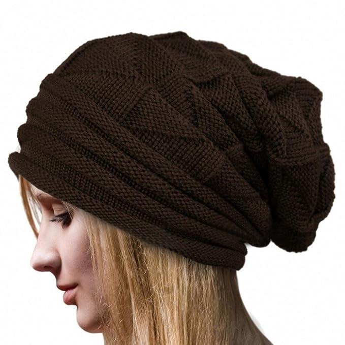Kobay Frauen-Winter-Flaum-Häkelarbeit-Hut-Wollknit-Beanie-warme ...