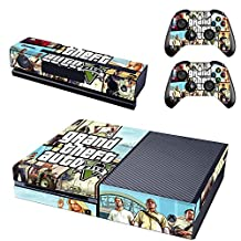 Hambur? Full Protective Xbox One Skin with 2PCS Protective Vinyl Skin Decals Cover for Microsoft Xbox One Controllers (Grand Theft Auto 5) by Hambur