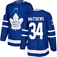 Toronto Maple Leafs #34 Matthews Ice Hockey Jersey S-XXXL,Hip Hop Clothing for Party,Stitched Letters and Numbers…