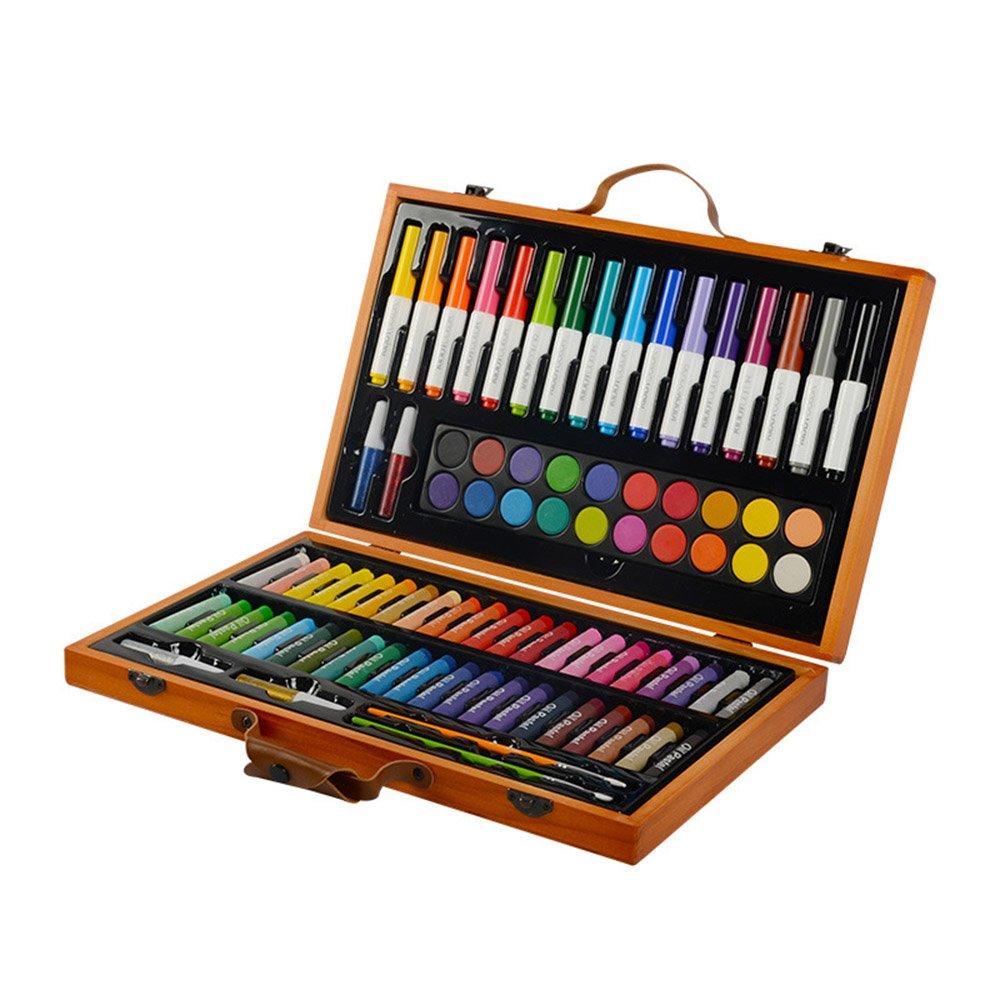 Stift malen Kinderzeichnungen Schreibwarensets Malwerkzeuge Aquarellstifte Ölpastelle Aquarellpinsel Kunstschulbedarf Geschenke Bunte Stifte (Farbe : Braun)