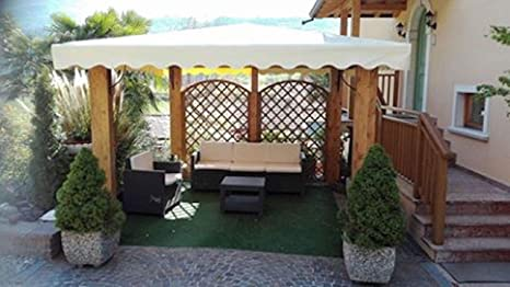 Gazebo Da Giardino 4x4 : Dekalux gazebo in legno made in italy amazon giardino e
