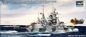 Trumpeter 1:700 German Heavy Cruiser Admiral Hipper 1941 Plastic Kit #05776