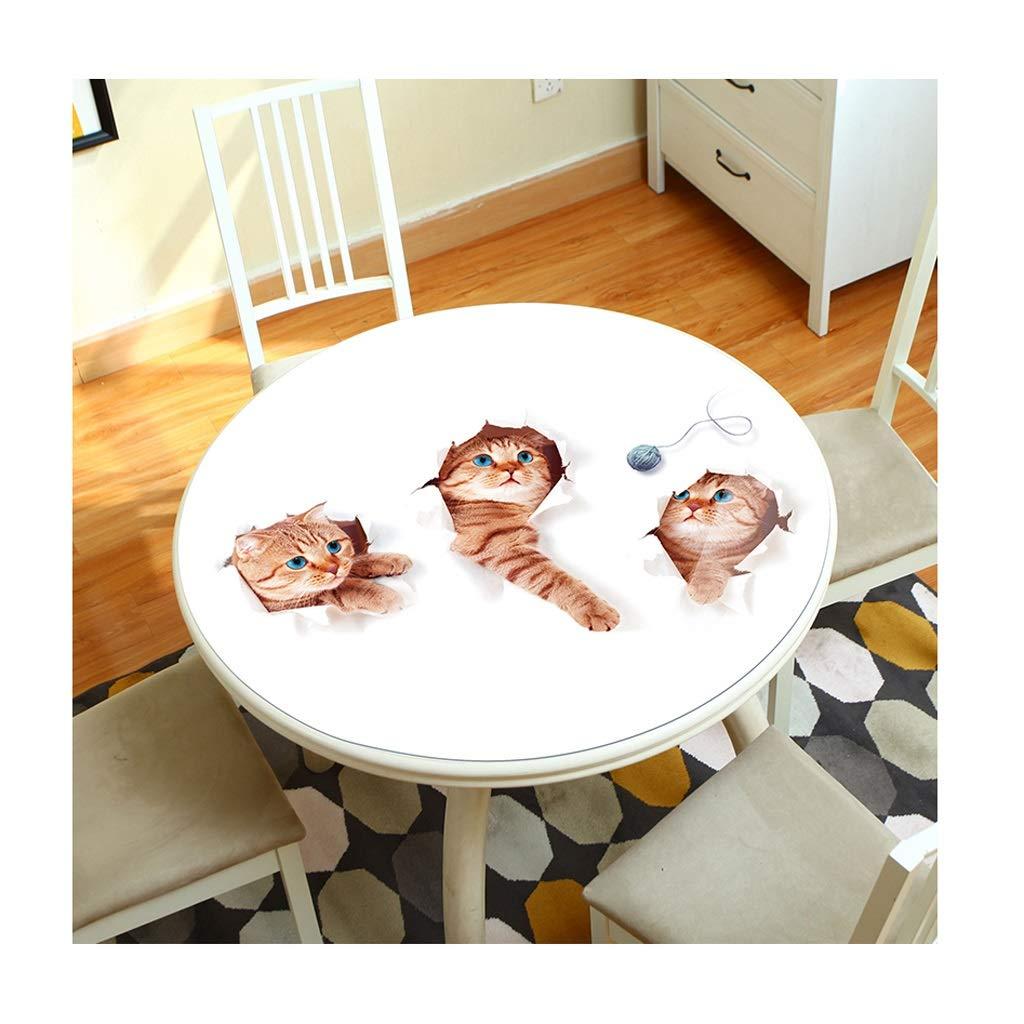 テーブルクロス 3D テーブルクロス 動物たち パターン 円形 PVC いいえ 洗う 防水 やけど防止 にとって ホテル レストラン 生活 ルーム (色 : C, サイズ さいず : DIAMETER90CM) DIAMETER90CM C B07RY1W21B