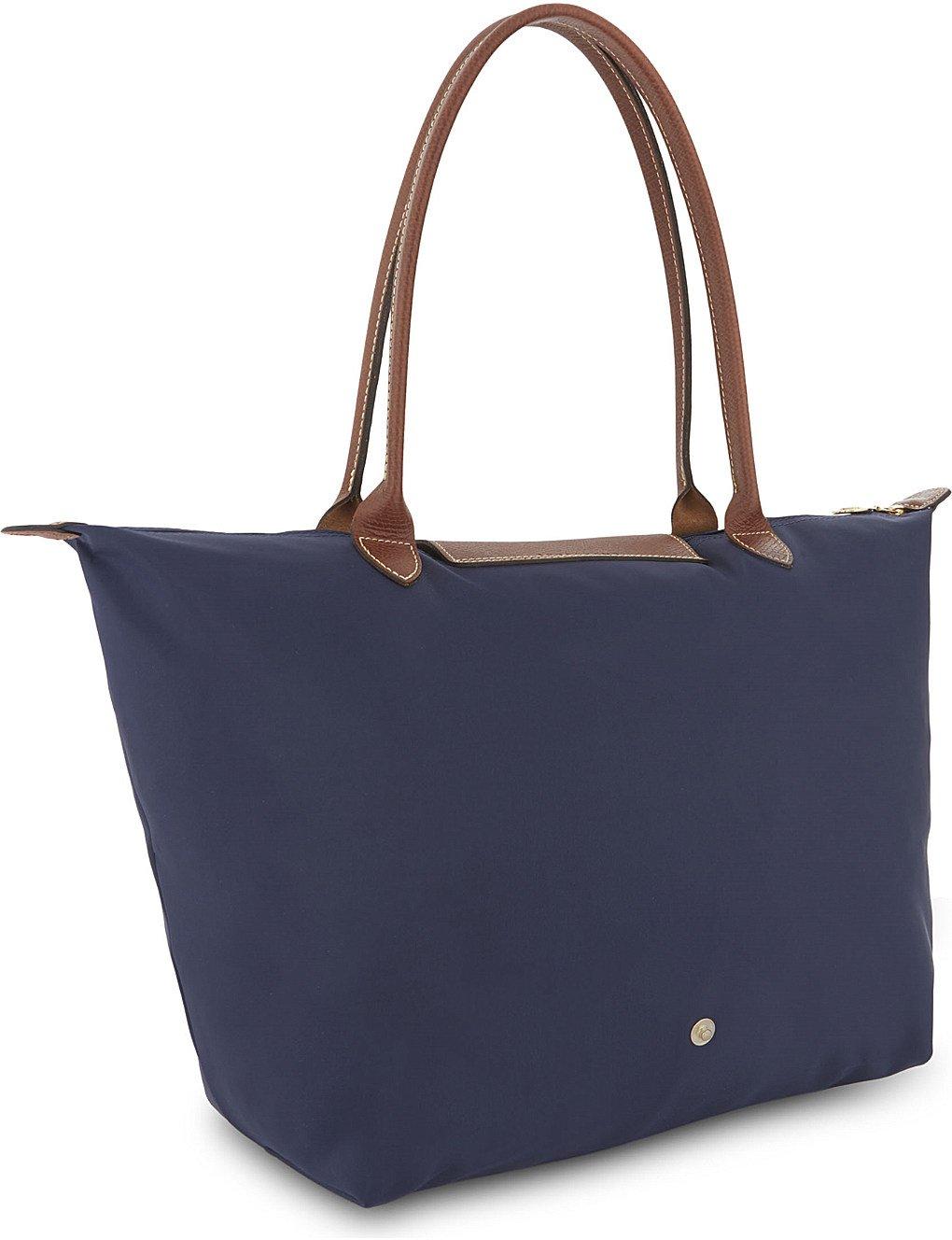 8203ae931088 Longchamp Le Pliage Large Tote shoulder bag (Navy)  Amazon.co.uk  Luggage