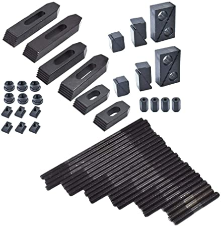 """Clamping Kit 1//2/""""-T,3//8/""""-16 Thread T001 58 Pc"""