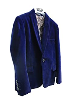4863bd307 SIRRI Boys Burgundy Navy Royal Blue Velvet Jacket Kids Blazer Boy ...
