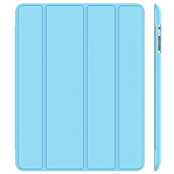 JETech 0213- Funda para iPad 4, iPad 3 y iPad 2, Carcasa con Soporte Función, Auto-Sueño / Estela, Azul