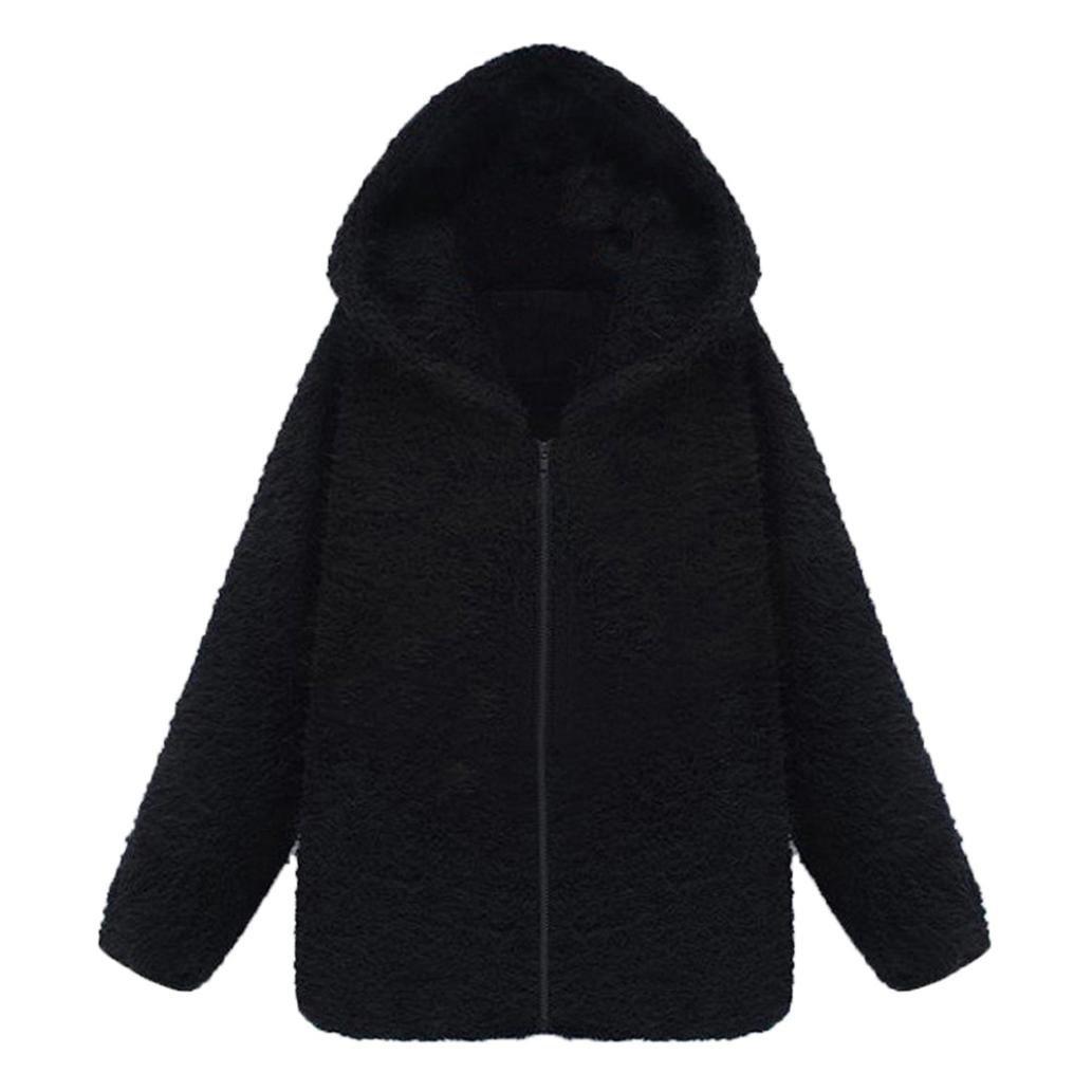 Trendy Women Quality Fleece Thick Plus Hooded Coat Hoodie Sweater Jacket Cardigan Billila