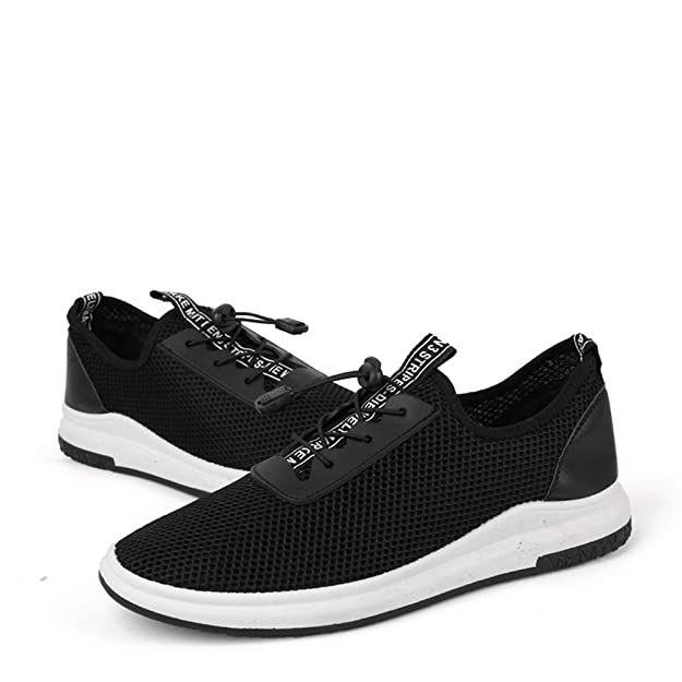 Amazon.com: MMM Shoes Mens Shoes Summer Tulle Hollow-Out Light Soles Comfort Athletic Shoes Walking Shoes Lace-up for Athletic Casual Outdoor White Black: ...
